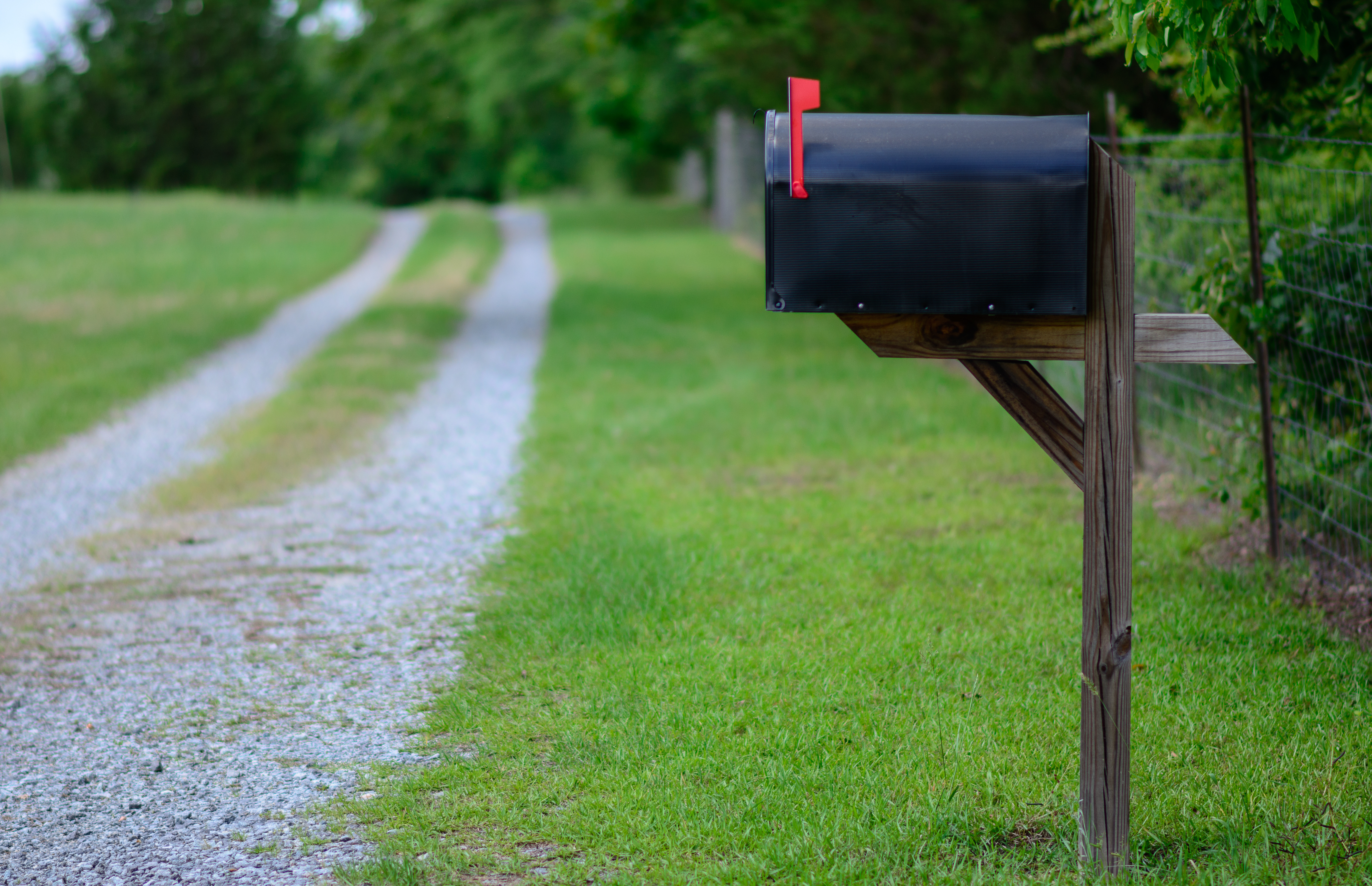 direct mail depicted as a rural mailbox